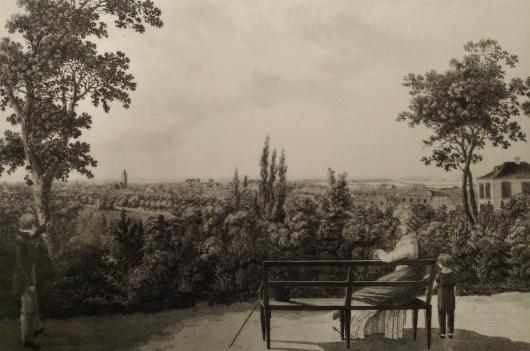 Blick von der Mathildenhoehe 1830