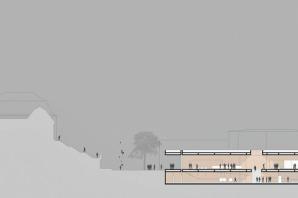 Besucherzentrum Entwurf Schnitt