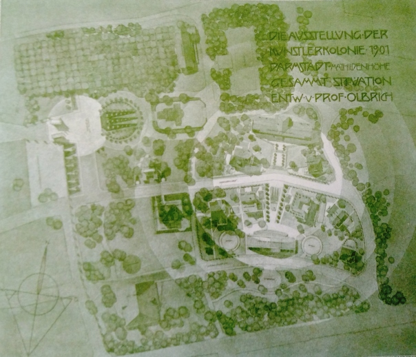 Gesamtplan Mathildenhöhe Olbrich