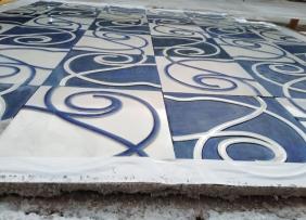 Haus Olbrich Fliesenband Detail