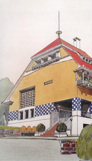 Haus Olbrich Zeichnung anno 1901_light