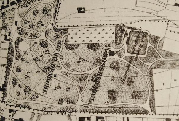 Heberer-Plan 1878 Aussschnitt quer