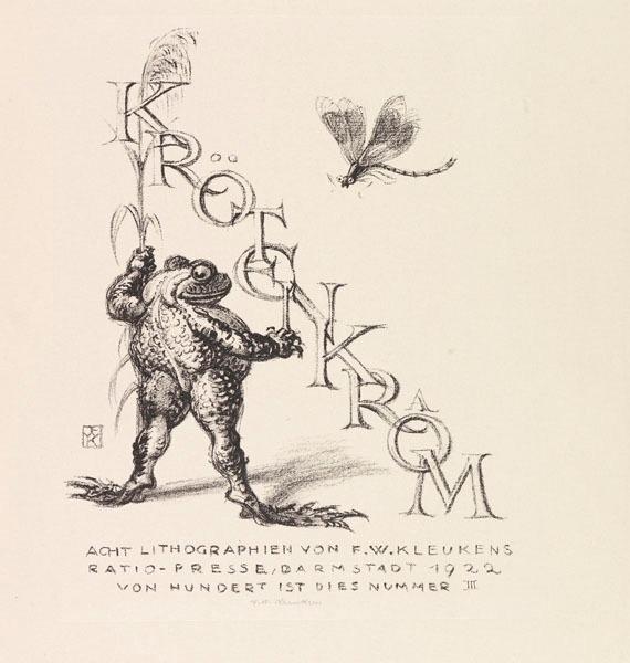 Frosch Titelblatt Kroetenkroam