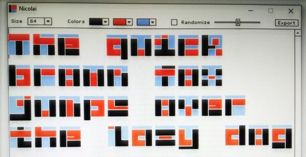 nicolai A New Font pangramm