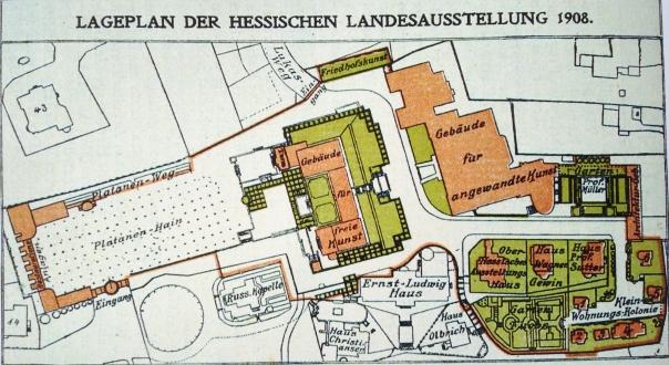 1908 Ausstellungsplan