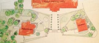 1901 Ausschnitt Gartenanlage Plan