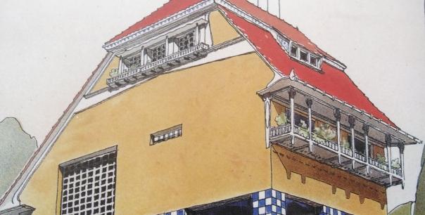Haus Olbrich Blumenbalkone Detail