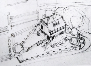 Olbrich Haus_Skizze mit Garten